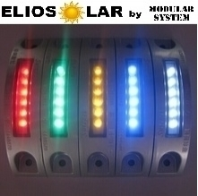 Solar road 6 led 180° degrees flash/costant color (white red yellow green blue) - ElioSolar by Modular System