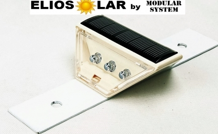 Solar guardrail 6 led flash o costant (color red, white, yellow) - ElioSolar by Modular System