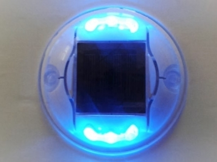 Solar road 6 led (polycarbonate) flash/ costant color (white red, yellow, blue) - ElioSolar by Modular System